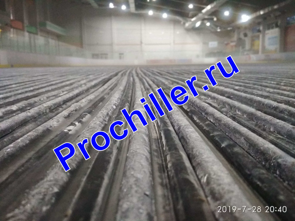 Пуско-наладочные работы чиллера TRANE ледовой арены