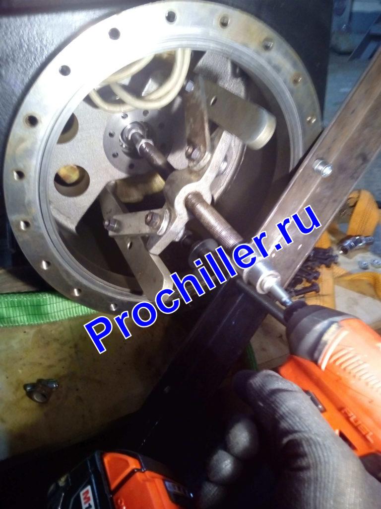 Снятие ротора электродвигателя винтового компрессора