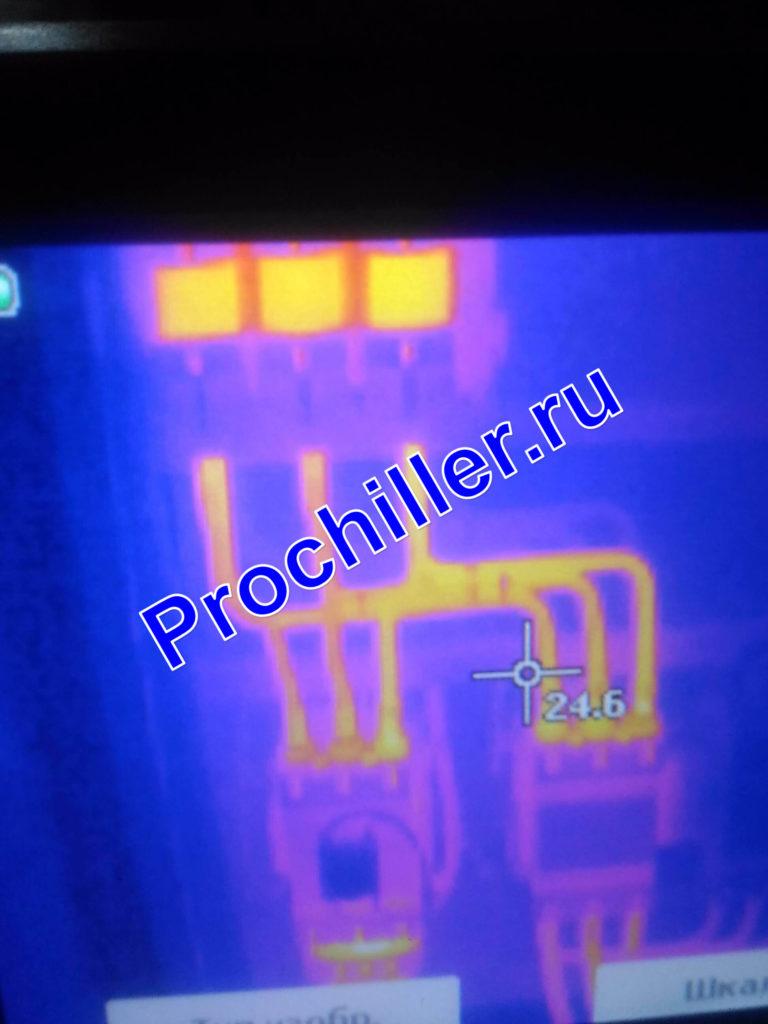 Тепловизионная съемка контакторов компрессора чиллера