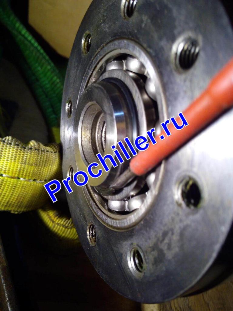 Замена заднего подшипника ротора компрессора