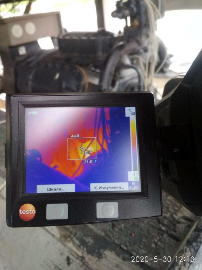 Тепловизионная съемка при ремонте чиллеров