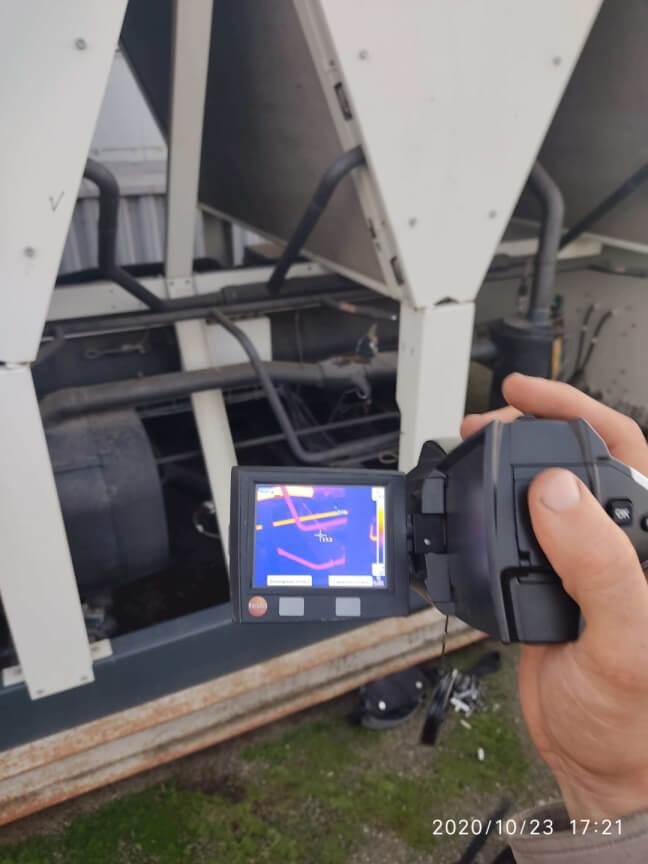 Обследование трубопроводов с помощью тепловизора