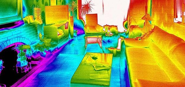 Определение теплового комфорта в коттедже с помощью тепловизионного снимка